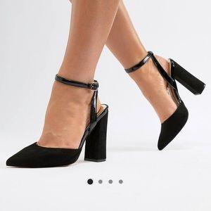 Black wide fit black heels.